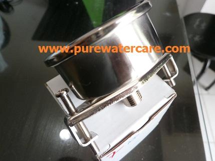 Pressure Guage Stainless 2 Inchi Tampak Samping